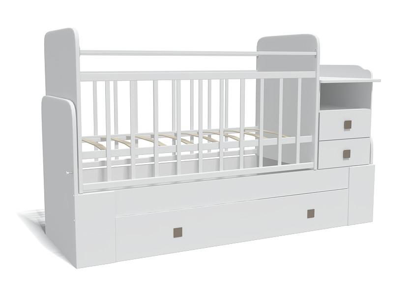 Кровать-трансформер Bambu Milana белый