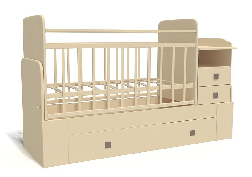 Кровать-трансформер Bambu Milana слон.кость