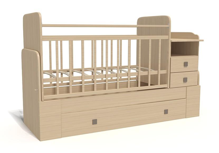 Кровать-трансформер Bambu Milana клен