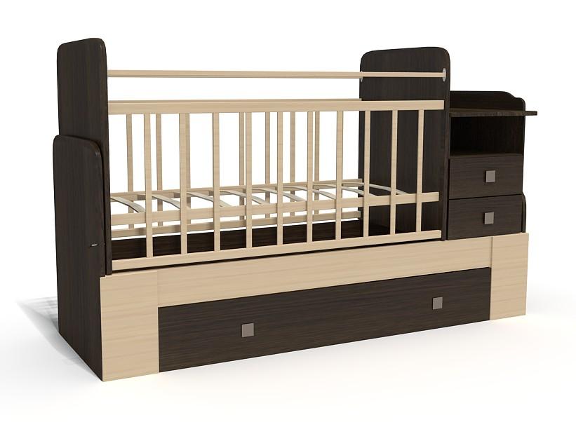 Кровать-трансформер Bambu Milana венге+клен