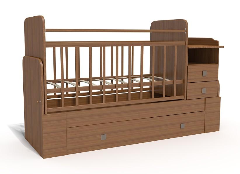 Кровать-трансформер Bambu Milana орех