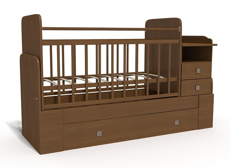 Кровать-трансформер Bambu Milana шоколад