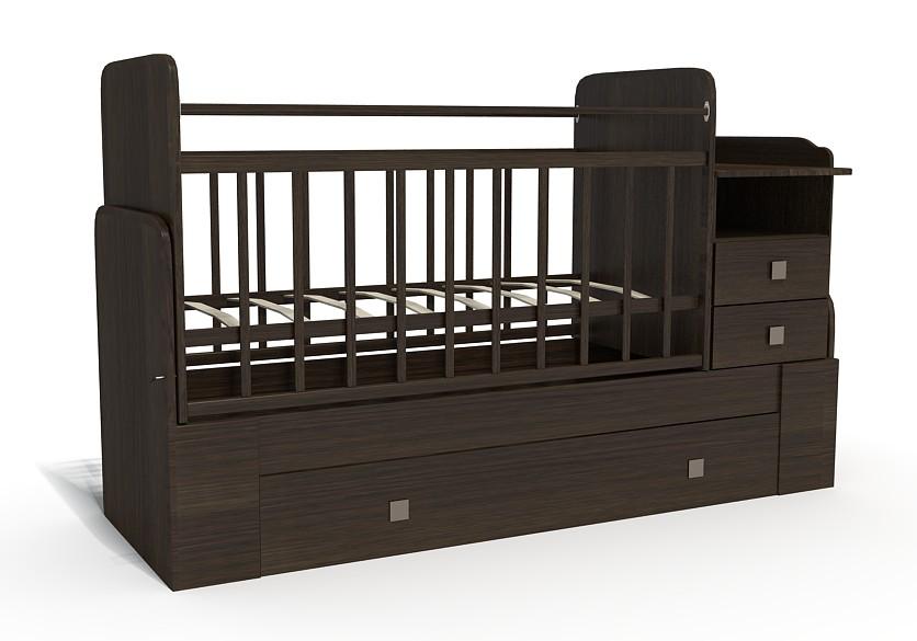 Кровать-трансформер Bambu Milana венге