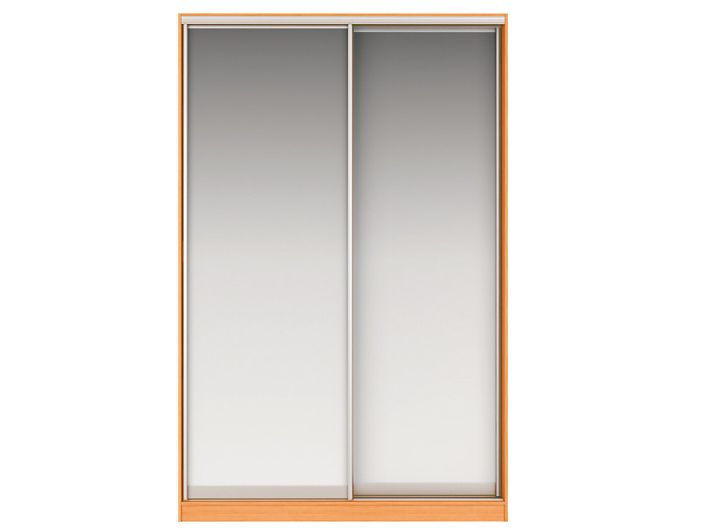 Шкаф-купе ДЖОННИ Вариант 2 Фасады: Зеркало, Зеркало (вишня)