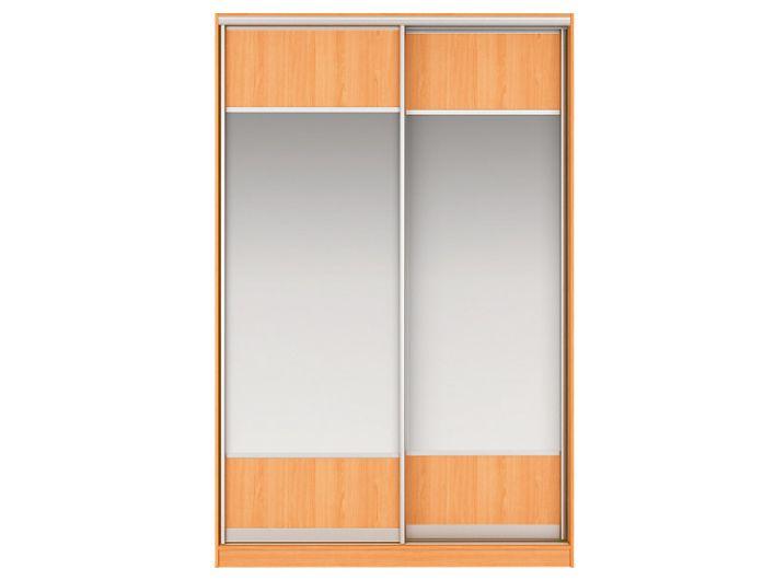 Шкаф-купе ДЖОННИ Вариант 6 Фасады: Зеркало/ЛДСП, Зеркало/ЛДСП (вишня)