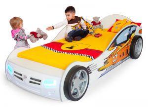 Детская кровать-машина Champion white