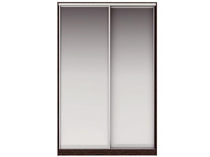 Шкаф-купе ЖАКЛИН Вариант 2 Фасады: Зеркало, Зеркало (венге/дуб млечный)