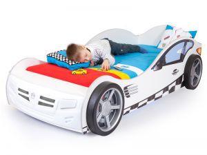 Детская кровать-машина Formula white