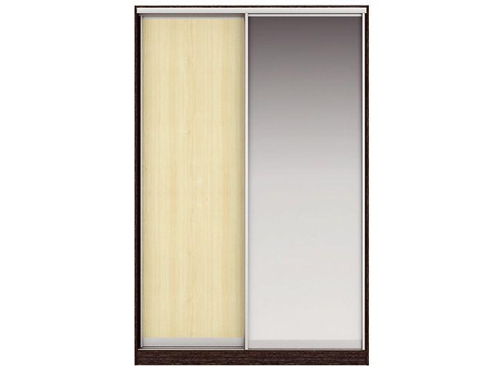 Шкаф-купе ЖАКЛИН Вариант 5 Фасады: ЛДСП, Зеркало (венге/дуб млечный)