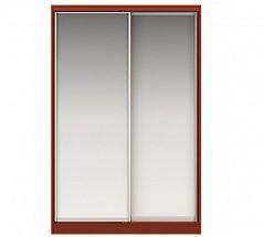 Шкаф-купе ЖАКЛИН Вариант 2 Фасады: Зеркало, Зеркало (орех)