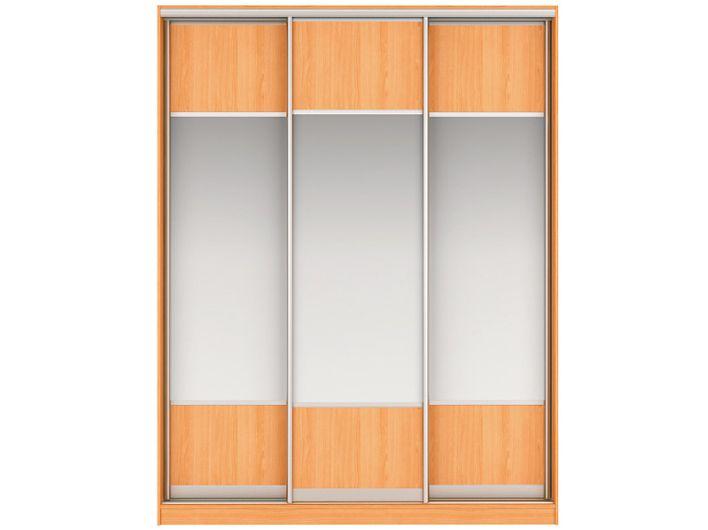 Шкаф-купе НАОМИ Вариант 5 Фасады: ЛДСП/Зеркало, ЛДСП/Зеркало, ЛДСП/Зеркало