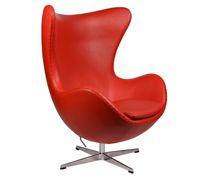 Style Egg Chair Premium красная кожа