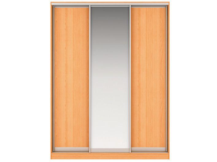 Шкаф-купе НАОМИ Вариант 1 Фасады: ЛДСП,Зеркало, ЛДСП (вишня)