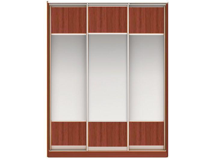 ШК НАОМИ Вариант 5 Фасады: ЛДСП/Зеркало, ЛДСП/Зеркало,ЛДСП/Зеркало(орех)