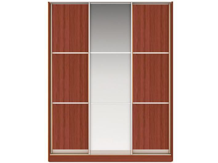 ШК НАОМИ Вариант 6 Фасады: Тройной ЛДСП, Тройной Зеркало,Тройной ЛДСП(орех)