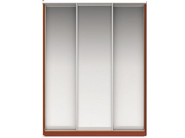 Шкаф-купе НАОМИ Вариант 3 Фасады: Зеркало, Зеркало, Зеркало (орех)