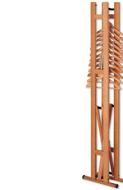Напольная деревянная вешалка Snake 90