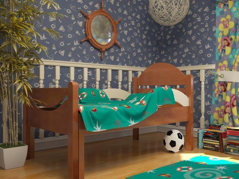 Ростушка-Простушка БМ70 детская раздвижная кровать серии Я расту для мальчиков и девочек детей от 2-3 лет