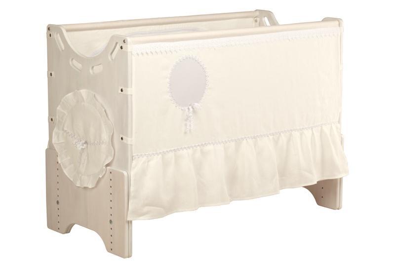 """Детская приставная кроватка для новорожденных с регулировкой высоты """"Зимнее утро"""" сосна"""