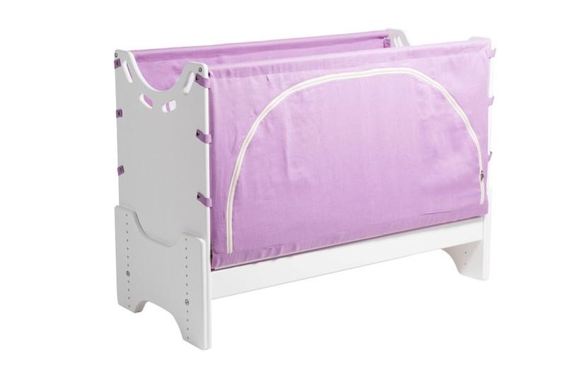 """Детская приставная кроватка для новорожденных с регулировкой высоты """"Встреча"""" сосна"""