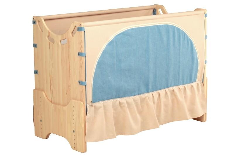 """Детская приставная кроватка для новорожденных с регулировкой высоты """"Ласковый восход"""" сосна"""