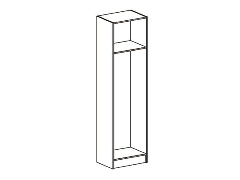 Шкаф платяной Макарена-3 ШК-302 (ясень шимо темный/белый сандал), МДФ