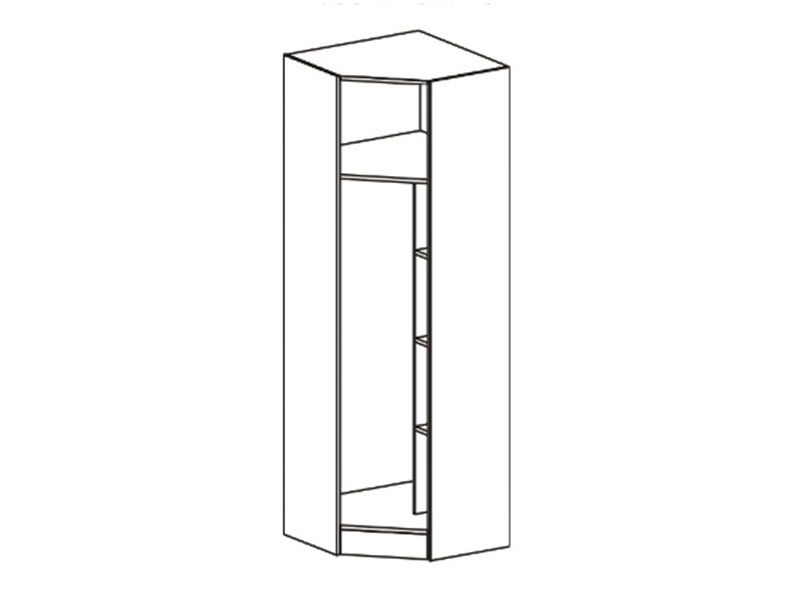 Шкаф угловой Макарена-3 ШК-305 (ясень шимо темный/белый сандал), МДФ