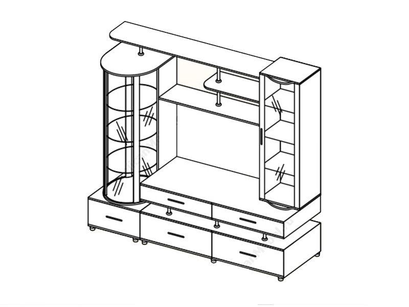 Модуль Техно (венге/дуб белфорд)