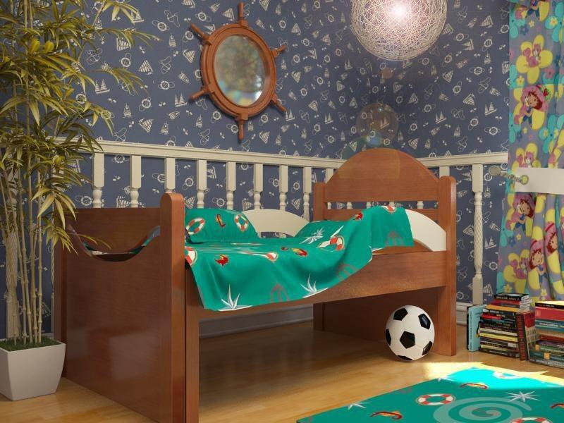 Ростушка-2 БМ70 детская раздвижная кровать серии Я расту для мальчиков и девочек детей от 2-3 лет