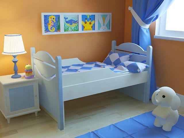 Ростушка-1 БМ70 детская раздвижная кровать серии Я расту для мальчиков и девочек детей от 2-3 лет
