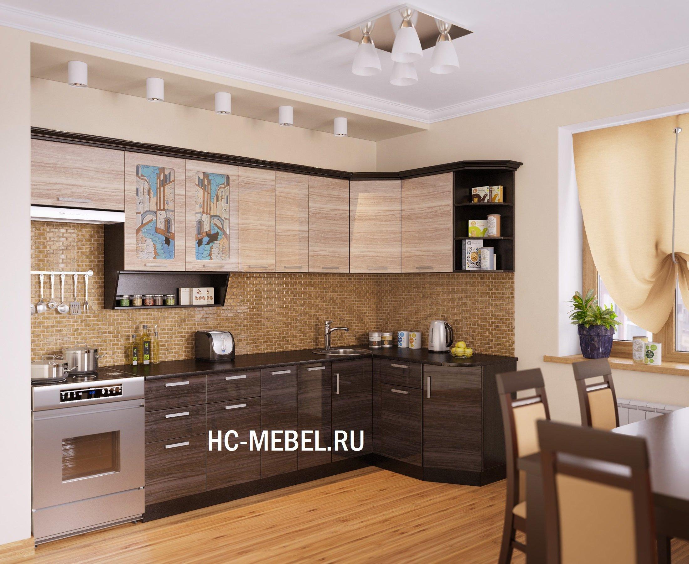 Кухня ВЕНЕЦИЯ-2 УГЛОВАЯ, левая - правая