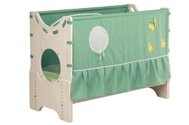 """Детская приставная кроватка для новорожденных с регулировкой высоты """"Эльфийский сказ"""" бук"""