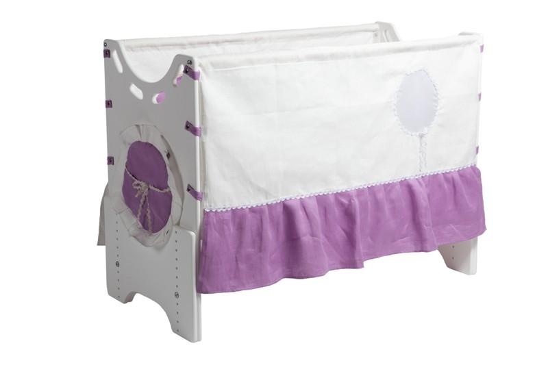 """Детская приставная кроватка для новорожденных с регулировкой высоты """"Июнь"""" бук"""