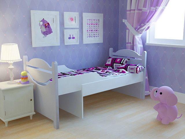 Ростушка-1 детская раздвижная кровать серии Я расту для мальчиков и девочек детей от 2-3 лет