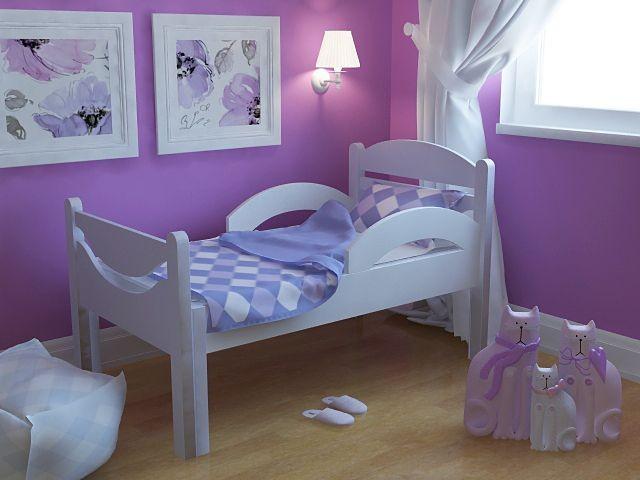Ростушка-Простушка детская раздвижная кровать серии Я расту для мальчиков и девочек детей от 2-3 лет