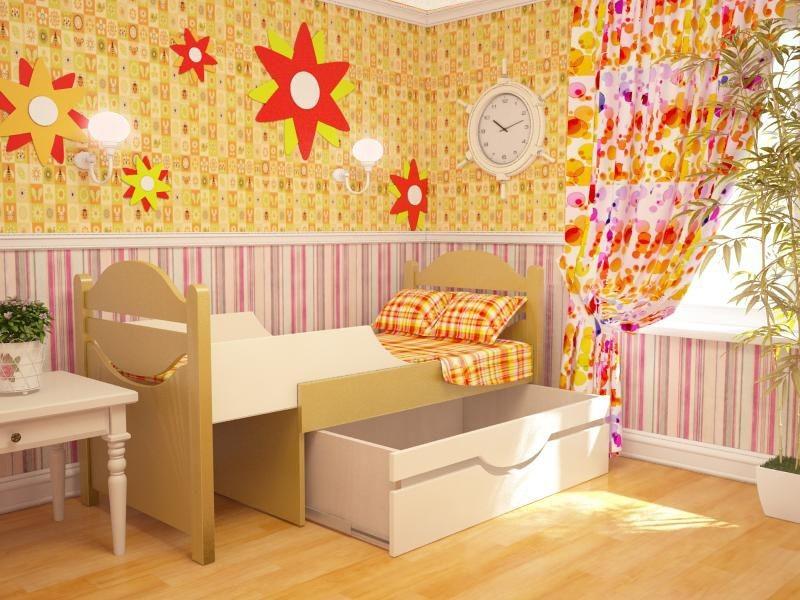 Ростушка-1 СМЯ70 детская раздвижная кровать серии Я расту для мальчиков и девочек детей от 2-3 лет