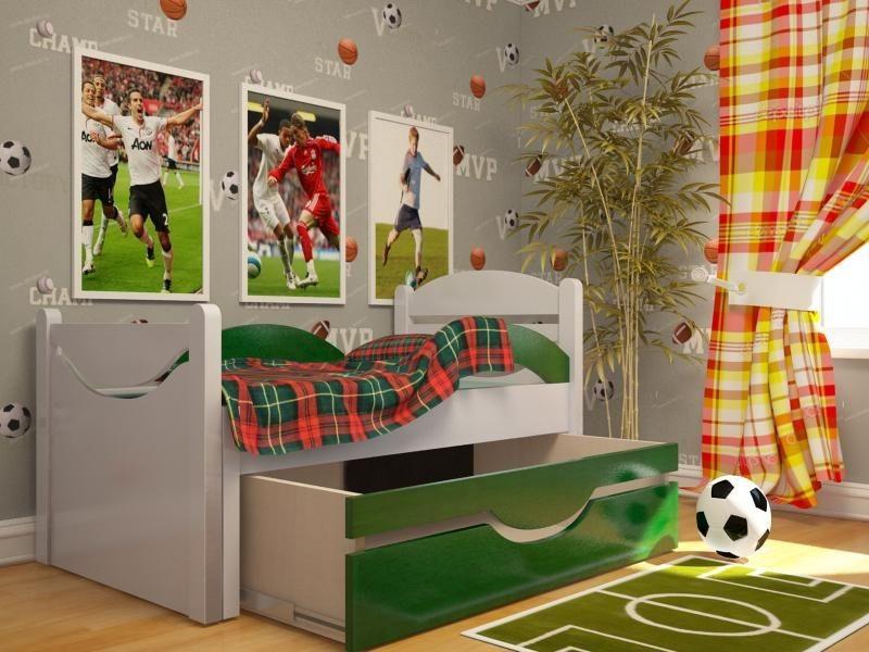 Ростушка-2 СМЯ2Б70 детская раздвижная кровать серии Я расту для мальчиков и девочек детей от 2-3 лет