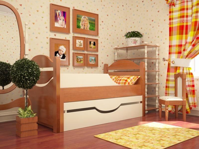 Ростушка-1 СМЯ85 детская раздвижная кровать серии Я расту для мальчиков и девочек детей от 2-3 лет