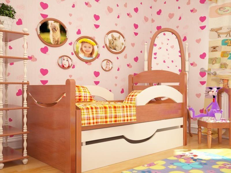 Ростушка-2 СМЯ2Б85 детская раздвижная кровать серии Я расту для мальчиков и девочек детей от 2-3 лет