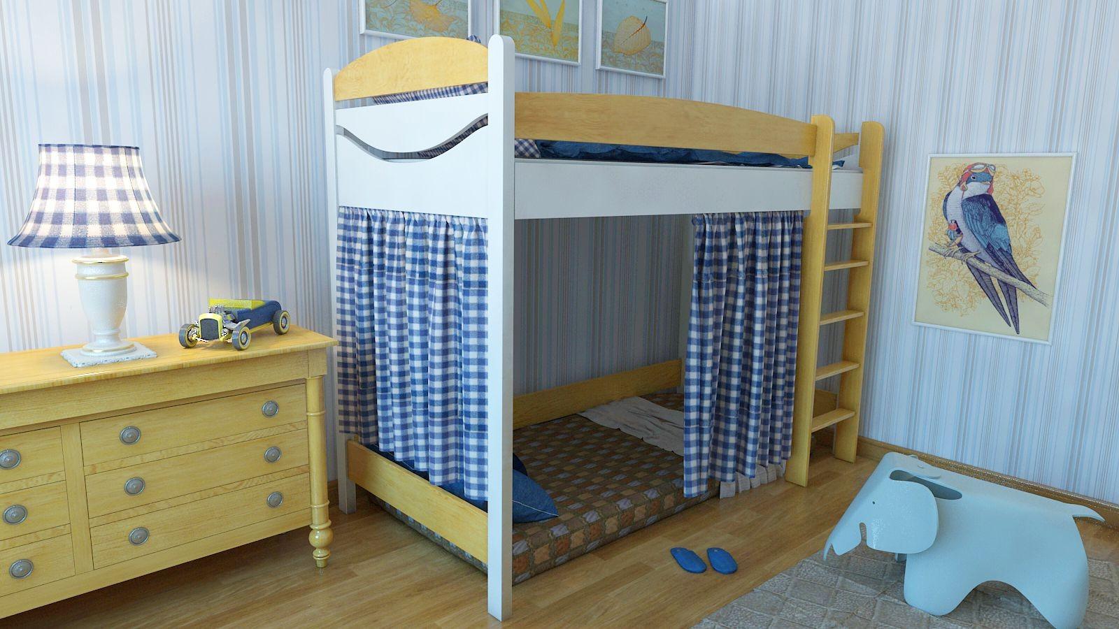 """Кровать чердак """"Эргономик-2"""" E290BMBUK детская для мальчиков и девочек детей от 2-3 лет"""