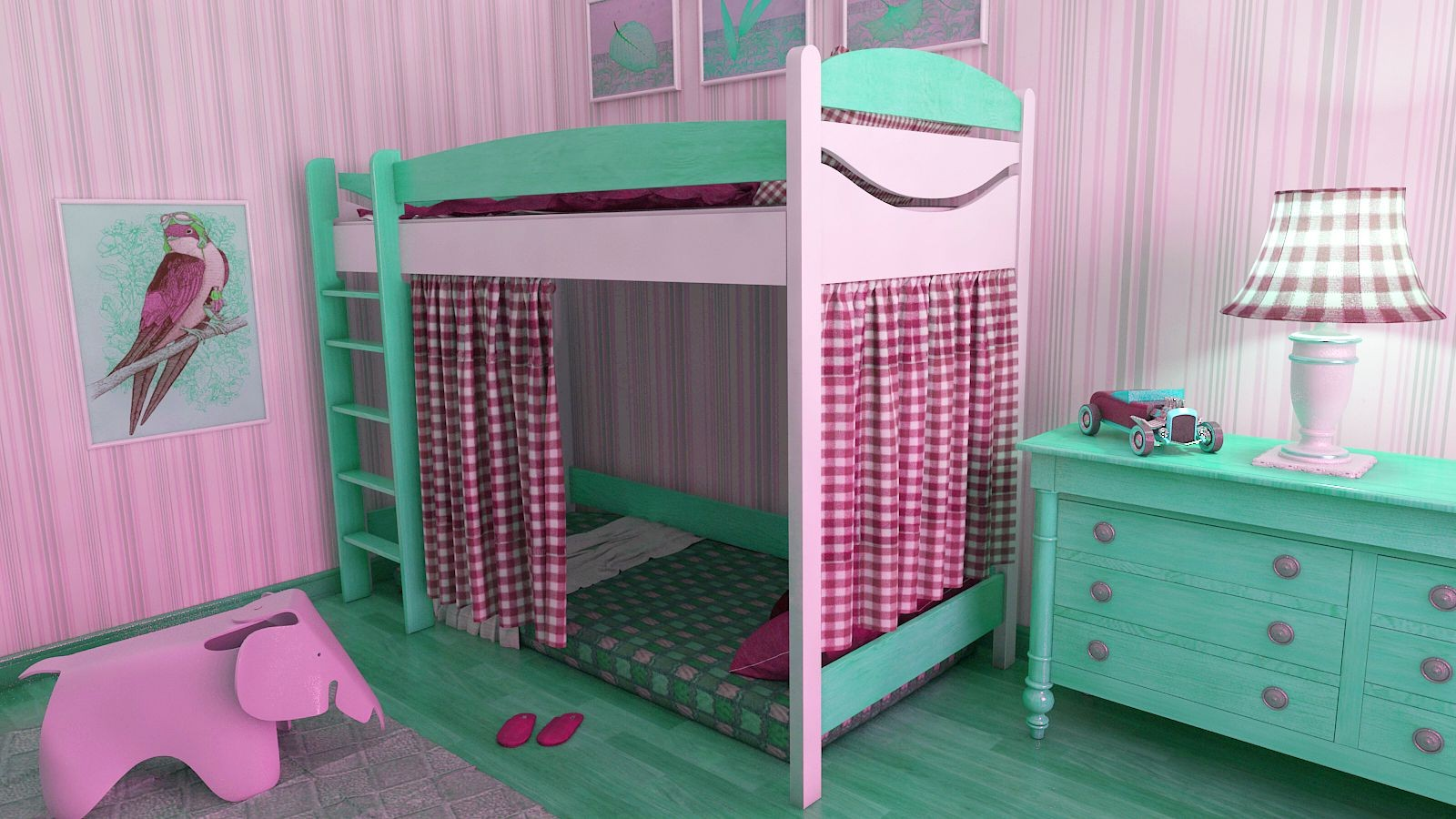 фото дети девочки в кровати
