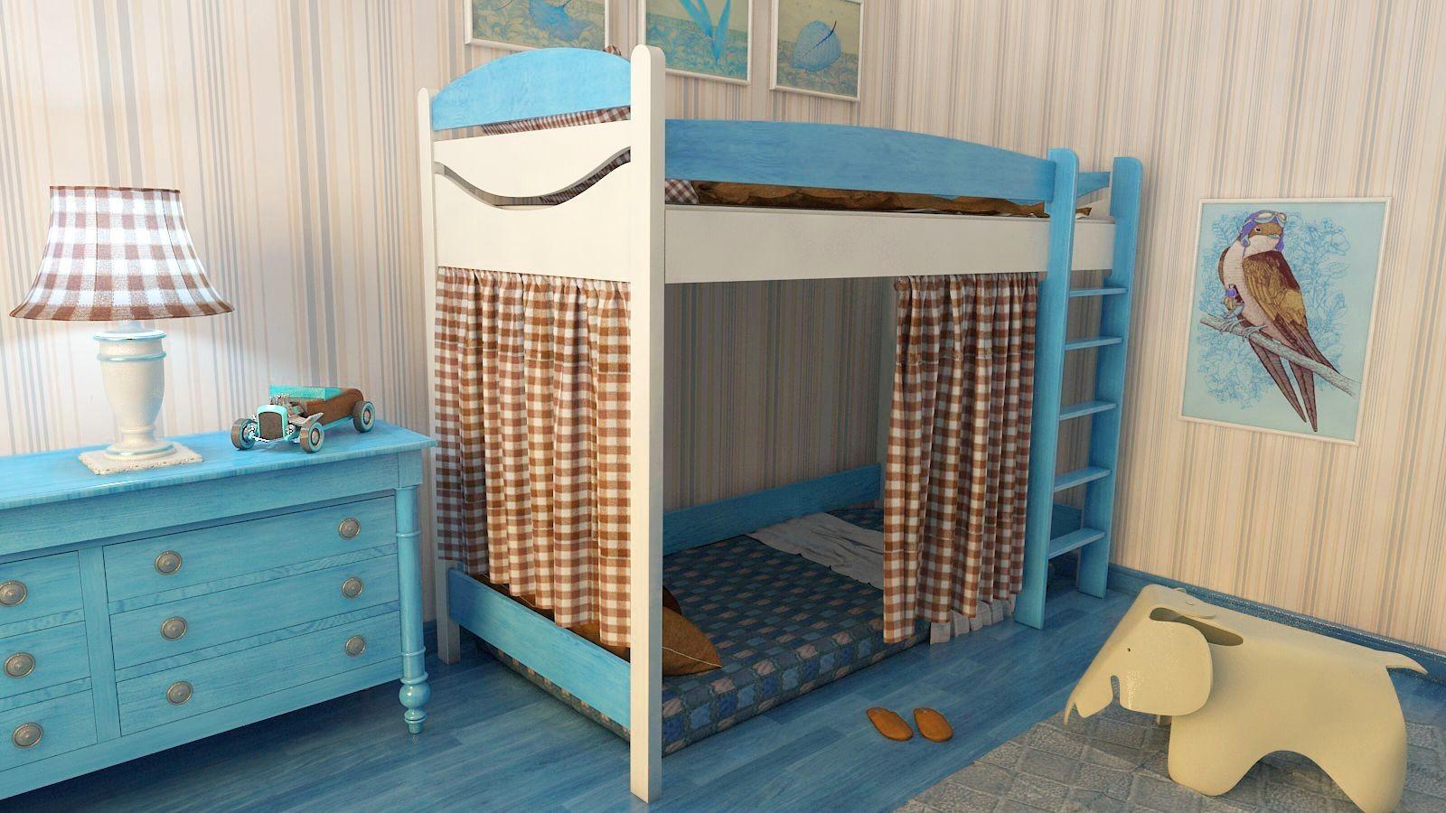 """Кровать чердак """"Эргономик-2"""" E290BMDUB детская для мальчиков и девочек детей от 2-3 лет"""