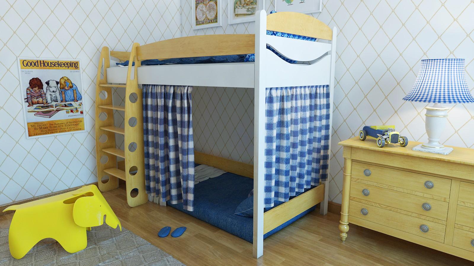 """Кровать чердак """"Эргономик-1"""" E190BMBUK160 детская для мальчиков и девочек детей от 2-3 лет"""