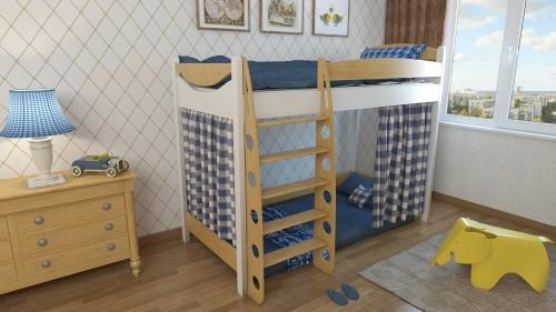 """Кровать чердак """"Эргономик-1"""" E180BMBUK180 детская для мальчиков и девочек детей от 2-3 лет"""
