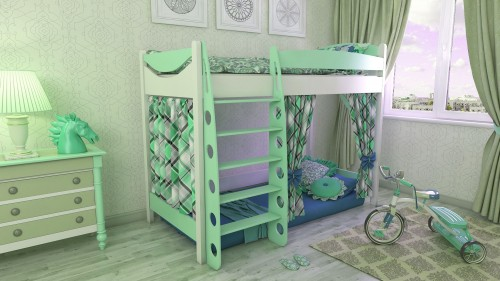 """Кровать чердак """"Эргономик-1"""" E190BMDUB детская для мальчиков и девочек детей от 2-3 лет"""