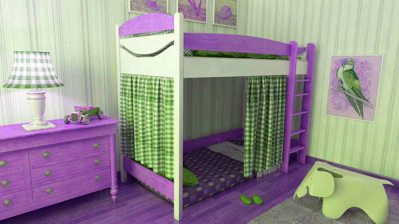 """Кровать чердак """"Эргономик-2"""" E290BDUB160 детская для мальчиков и девочек детей от 2-3 лет"""