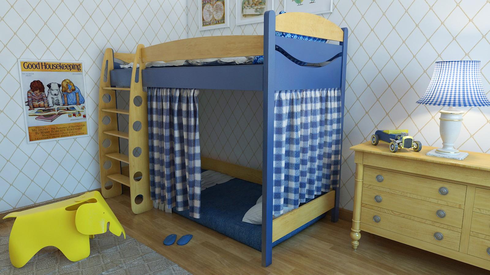 """Кровать чердак """"Эргономик-1"""" E190BMDUB160 детская для мальчиков и девочек детей от 2-3 лет"""
