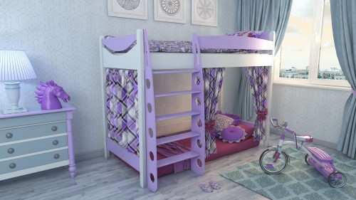 """Кровать чердак """"Эргономик-1"""" E190BMBUK200 детская для мальчиков и девочек детей от 2-3 лет"""