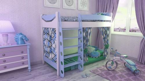 """Кровать чердак """"Эргономик-1"""" E180BMDUB180 детская для мальчиков и девочек детей от 2-3 лет"""