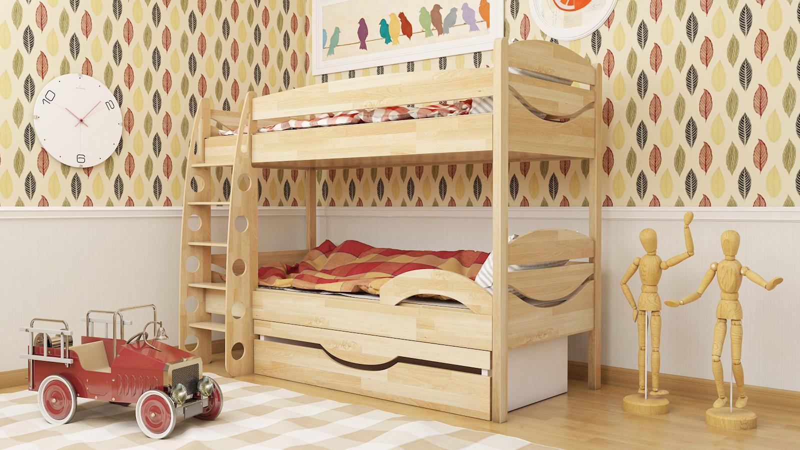 """Двухъярусная кровать """"Эни-Бэни"""" KDEBUKU детская для мальчиков и девочек детей от 2-3 лет"""
